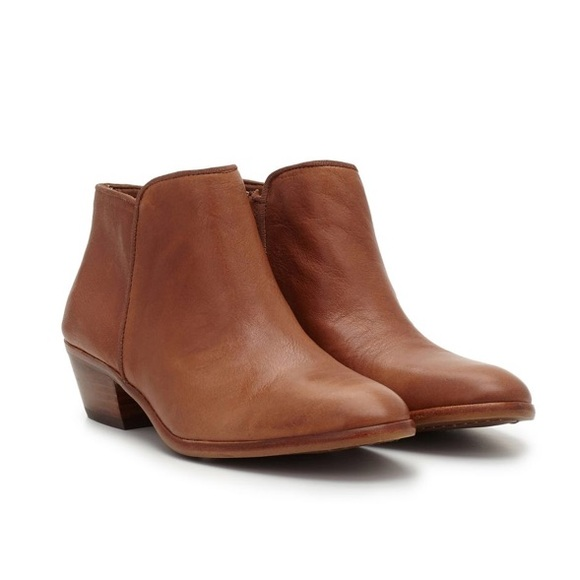 ae069b648 Sam Edelman Petty Ankle Bootie in Saddle Leather. M 5ba06b7be944ba87a061a63c